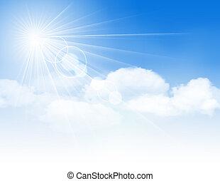 blauer himmel, wolkenhimmel, sun.