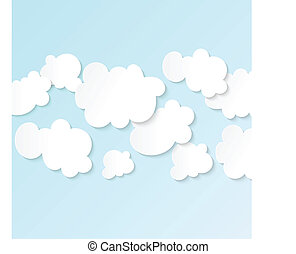 blauer himmel, wolkenhimmel