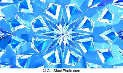 blauer hintergrund, diamanten