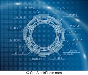 blauer hintergrund, technologisch