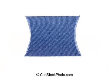 blauer kasten, freigestellt, leer