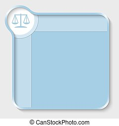 blauer kasten, text, symbol, eintragen, gesetz