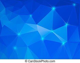blauer kristall, abstrakt, hintergrund