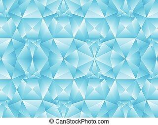 blauer kristall, abstrakt, künstlerisch, hintergrund