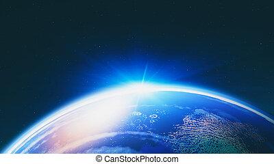 blauer planet, abstrakt, hintergruende, design, wissenschaft, dein