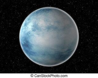 blauer planet, hintergrund, raum