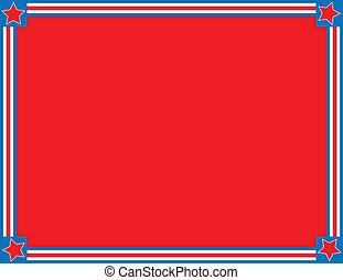 blauer stern, str, vektor, eps8, weiß rot