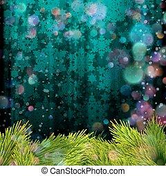 blaues, 10, baum, eps, hintergrund., zweig, weihnachten