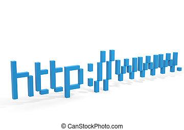 blaues, 3d, adresse, http, www., internetverbindung,...