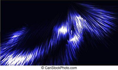 blaues, abbildung, streifen, kosmisch, muster, linien, energie, neon, glühen, beschaffenheit, magisch, hintergrund., hell, vektor, fäden, spiralen, wellen, space., kopie, abstrakt, blank
