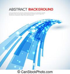 blaues, abstrakt, bewegen, hintergrund