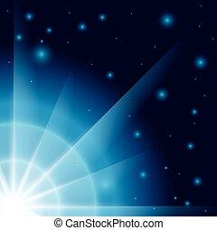 blaues, abstrakt, blitz, hintergrund
