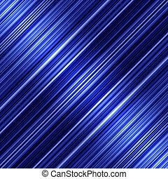 blaues, abstrakt, diagonale streifen, hintergrund., glänzend