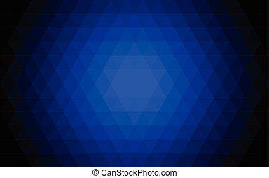 blaues, abstrakt, dreieck, hintergrund., vektor, illustration.