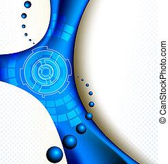 blaues, abstrakt, high-tech-, zusammensetzung