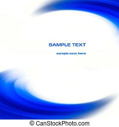 blaues, abstrakt, kurven, hintergrund