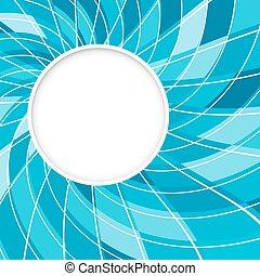 blaues, abstrakt, pattern., hintergrund., form, vektor, digital, weißes, runder