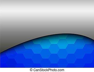 blaues, abstrakt, silber, hintergrund