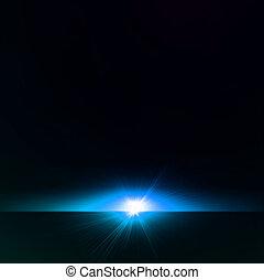blaues, abstrakt, star., vektor