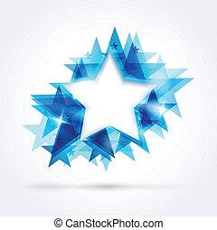 blaues, abstrakt, stern