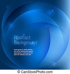 blaues, abstrakt, vektor, hintergrund