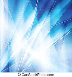 blaues, abstrakt, vektor, hintergrund, mit, neon, linien