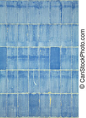 blaues, abstrakt, wand
