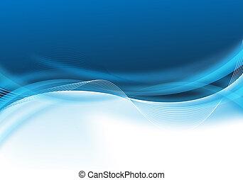 blaues, abstraktes design, geschaeftswelt