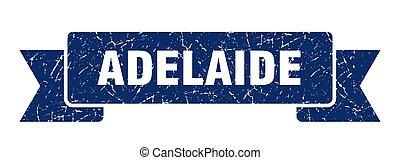 blaues, adelaide, ribbon., zeichen, grunge, band