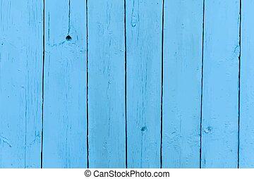 blaues, altes , realistisch, gemalt, hölzern, vektor, hintergrund