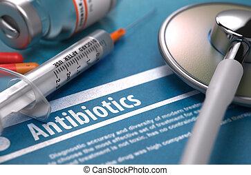 blaues, antibiotics., medizinisches konzept, hintergrund.