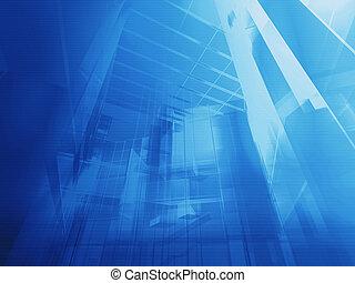blaues, architektonisch