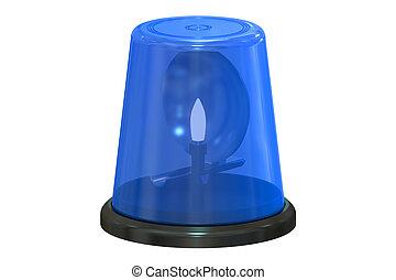 blaues, aufleuchtend zündet, 3d, übertragung
