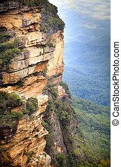 blaues, australia, berge