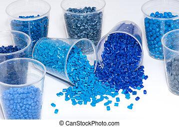 blaues, auswahl, thermoplastisch, harz