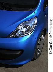 blaues auto, aufschließen