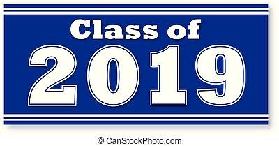 blaues, banner, 2019, klasse