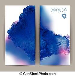blaues, banner