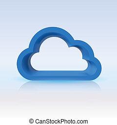 blaues, begriff, design, digital, wolke, dein