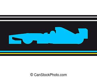 blaues, beschleunigen auto