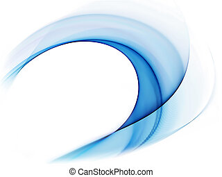 blaues, bewegung, wellig, dynamisch