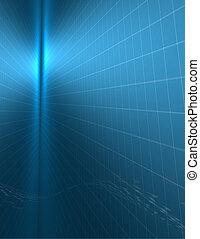 blaues, binärer