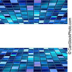 blaues, blöcke, copyspace