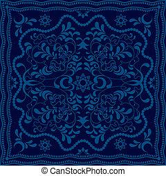 blaues, blumen-, abstrakt, hintergrund