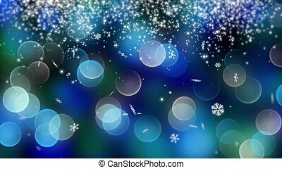 blaues, bokeh, hintergrund, geschaffen, per, neon, lights.,...
