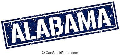 blaues, briefmarke, alabama, quadrat