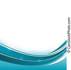 blaues, broschüre, abstrakt
