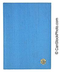 blaues buch, seiten, freigestellt, auf, a, weißer hintergrund