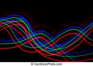 blaues, bunte, abstrakt, linien, farbe, hintergrund, schwarz, grün, freezelight, rotes