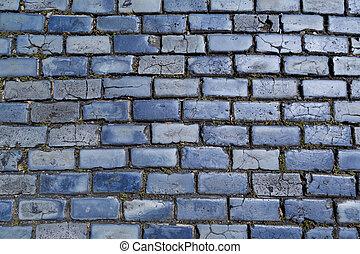 blaues, cobblestones
